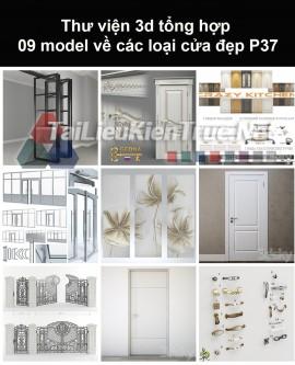 Thư viện 3d tổng hợp 09 model về các loại cửa đẹp P37