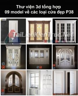 Thư viện 3d tổng hợp 09 model về các loại cửa đẹp P38
