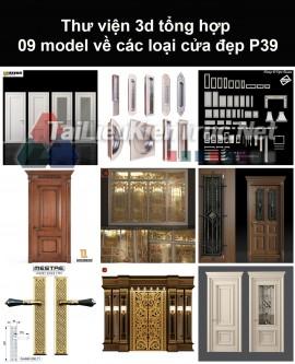 Thư viện 3d tổng hợp 09 model về các loại cửa đẹp P39