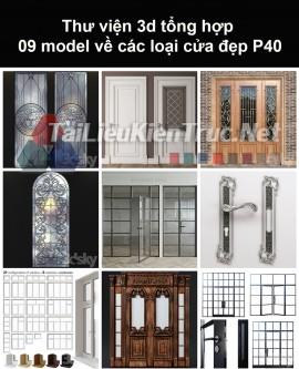 Thư viện 3d tổng hợp 09 model về các loại cửa đẹp P40