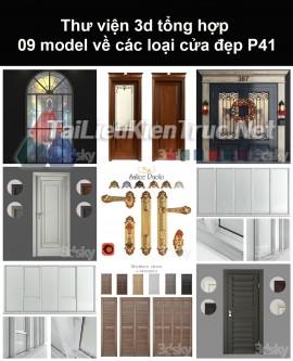 Thư viện 3d tổng hợp 09 model về các loại cửa đẹp P41