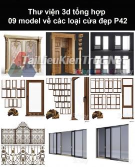 Thư viện 3d tổng hợp 09 model về các loại cửa đẹp P42
