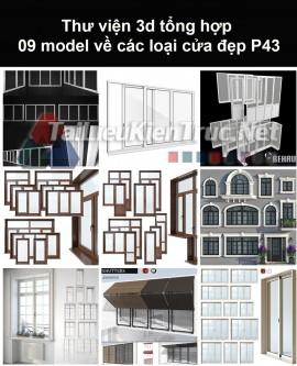 Thư viện 3d tổng hợp 09 model về các loại cửa đẹp P43