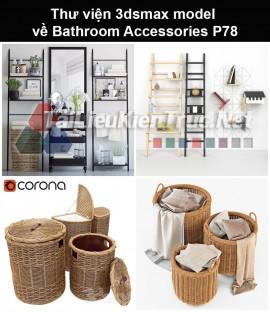 Thư viện 3dsmax model về Bathroom accessories (Đồ dùng phòng tắm) P78