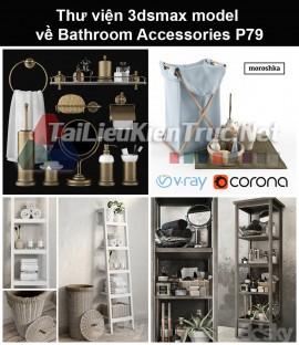 Thư viện 3dsmax model về Bathroom accessories (Đồ dùng phòng tắm) P79