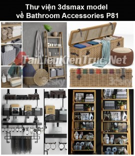 Thư viện 3dsmax model về Bathroom accessories (Đồ dùng phòng tắm) P81