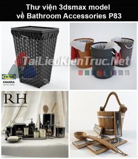 Thư viện 3dsmax model về Bathroom accessories (Đồ dùng phòng tắm) P83