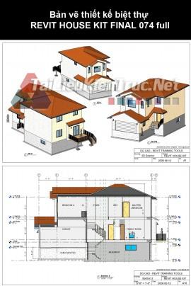 Bản vẽ thiết kế biệt thự REVIT HOUSE KIT FINAL 074 full