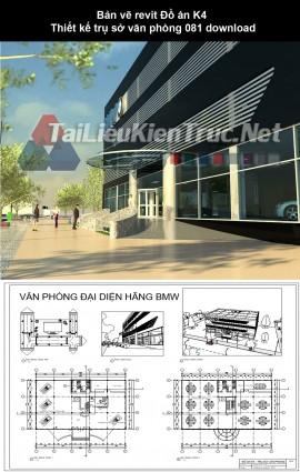 Bản vẽ revit Đồ án K4 Thiết kế trụ sở văn phòng 081 download
