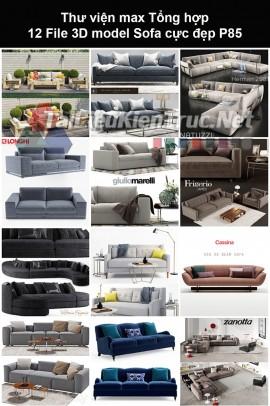 Thư viện max Tổng hợp 12 File 3D model Sofa cực đẹp P85