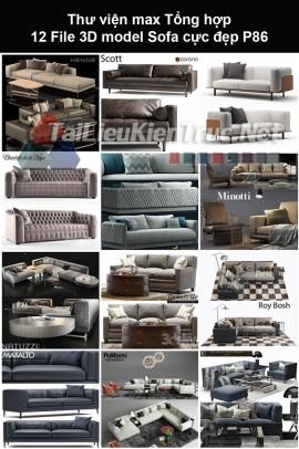 Thư viện max Tổng hợp 12 File 3D model Sofa cực đẹp P86