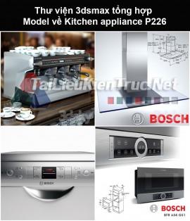 Thư viện 3dsmax tổng hợp Model về Kitchen appliance (Thiết bị nhà bếp) P226
