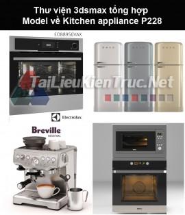 Thư viện 3dsmax tổng hợp Model về Kitchen appliance (Thiết bị nhà bếp) P228
