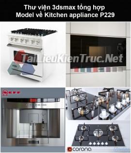 Thư viện 3dsmax tổng hợp Model về Kitchen appliance (Thiết bị nhà bếp) P229