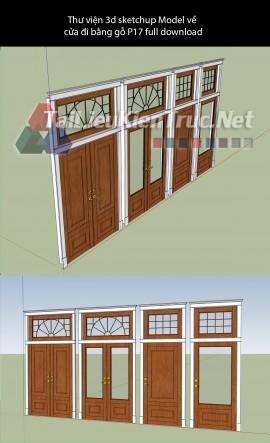 Thư viện 3d sketchup Model về cửa đi bằng gỗ P17 full download