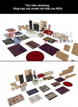 Thư viện sketchup tổng hợp các model nội thất của IKEA
