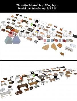 Thư viện 3d sketchup Tổng hợp Model bàn trà các loại full P11