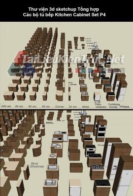 Thư viện sketchup tổng hợp các bộ tủ bếp Kitchen Cabinet Set p4