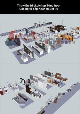 Thư viện sketchup tổng hợp các bộ tủ bếp Kitchen Set p5