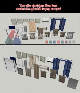 Thư viện sketchup tổng hợp model rèm gỗ chất lượng cao p10