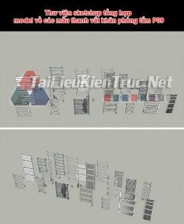 Thư viện sketchup tổng hợp model về thanh vắt khăn phòng tắm P9