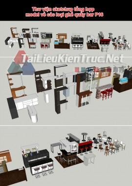 Thư viện sketchup tổng hợp model về các loại ghế quầy bar P16