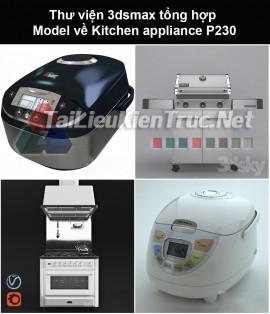 Thư viện 3dsmax tổng hợp Model về Kitchen appliance (Thiết bị nhà bếp) P230