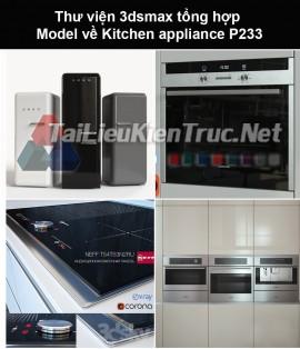 Thư viện 3dsmax tổng hợp Model về Kitchen appliance (Thiết bị nhà bếp) P233