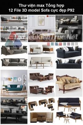 Thư viện max Tổng hợp 12 File 3D model Sofa cực đẹp P92