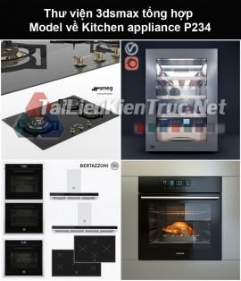 Thư viện 3dsmax tổng hợp Model về Kitchen appliance (Thiết bị nhà bếp) P234