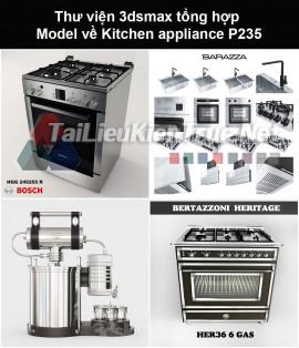 Thư viện 3dsmax tổng hợp Model về Kitchen appliance (Thiết bị nhà bếp) P235