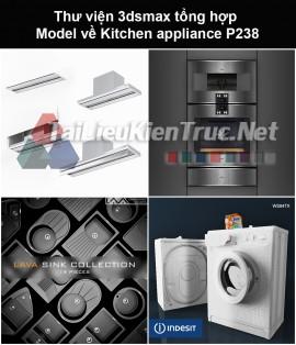 Thư viện 3dsmax tổng hợp Model về Kitchen appliance (Thiết bị nhà bếp) P238