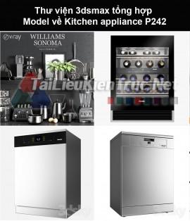 Thư viện 3dsmax tổng hợp Model về Kitchen appliance (Thiết bị nhà bếp) P242