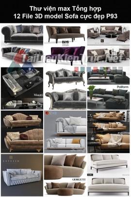 Thư viện max Tổng hợp 12 File 3D model Sofa cực đẹp P93