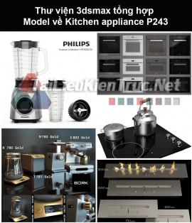 Thư viện 3dsmax tổng hợp Model về Kitchen appliance (Thiết bị nhà bếp) P243