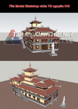 File Model Sketchup chùa Từ nguyên 019