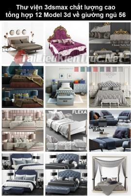 Thư viện 3dsmax chất lượng cao tổng hợp 12 Model 3d về Giường ngủ 56