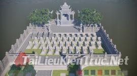 Thư viện sketchup file phối cảnh ngôi mộ tổ bằng đá share by Bùi Đình Thi