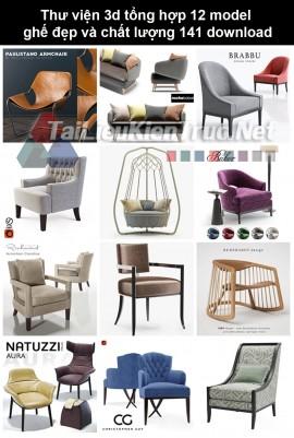 Thư viện 3d Tổng hợp 12 model ghế đẹp và chất lượng 141 download
