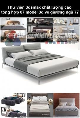Thư viện 3dsmax chất lượng cao tổng hợp 07 Model 3d về Giường ngủ 77