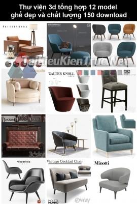 Thư viện 3d Tổng hợp 12 model ghế đẹp và chất lượng 150 download