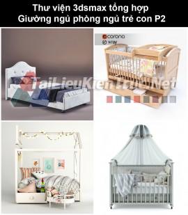 Thư viện 3dsmax tổng hợp Giường ngủ phòng ngủ trẻ con P2