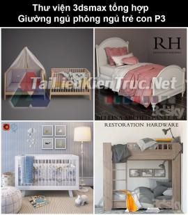 Thư viện 3dsmax tổng hợp Giường ngủ phòng ngủ trẻ con P3