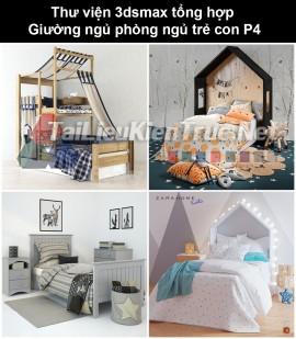Thư viện 3dsmax tổng hợp Giường ngủ phòng ngủ trẻ con P4