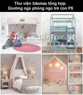 Thư viện 3dsmax tổng hợp Giường ngủ phòng ngủ trẻ con P5