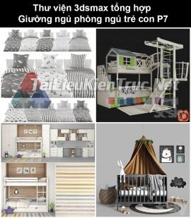 Thư viện 3dsmax tổng hợp Giường ngủ phòng ngủ trẻ con P7