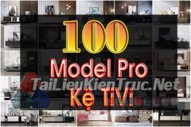 Thư viện 3dsmax tổng hợp 100 Model pro kệ tivi đẹp và chất lượng download