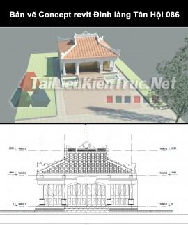 Bản vẽ Concept revit Đình làng Tân Hội 086
