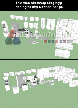 Thư viện sketchup tổng hợp các bộ tủ bếp Kitchen Set p6