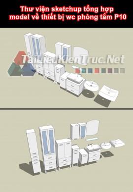 Thư viện sketchup tổng hợp model về thiết bị wc phòng tắm P10